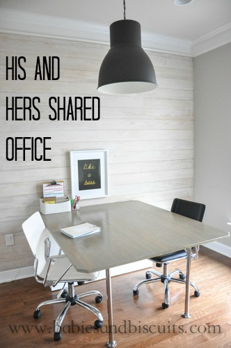 House Tour His And Hers Shared Office Babies And
